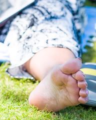 DSCF6464.jpg (taureal) Tags: female barefoot mature candid soles feet