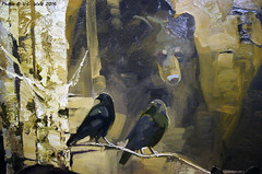 The Mystic Forest (detail),  Mary Roberson (V. C. Wald) Tags: jacksonhole grandtetonnationalpark jacksonwyoming nationalmuseumofwildlifeart themysticforest maryroberson