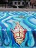 Day 216: Frog and Fish (quinn.anya) Tags: frog fish blue water mural creek uofi day216 525600minutes