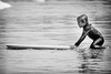 Ready (GavinZ) Tags: california sandiego scripps sports usa beach ocean water blackandwhite bw monochrome boy boogieboard