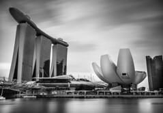 View across The Bay (Bald Monk) Tags: white black museum marina bay sunday science sands mbs marinabaysands