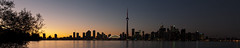Toronto Sunset (BenjaminBe) Tags: sunset panorama toronto canada skyline evening nikon cntower kanada nikond80 nikkor1855mm3556