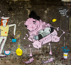Under a bridge is no place for an ugle baby (PDKImages) Tags: art streetart london urban city mural graffiti hidden culture brighten cityscape artinthecity walls camden shoreditch windows