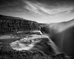 Gullfoss (-- Q --) Tags: gullfoss waterfall iceland lee09softgrad leebigstopper atmosphere qthompson blackandwhite longexposure