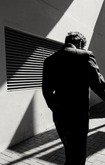 Back Lane (debbykwong) Tags: street leica urban hongkong lightandshadows solitude geometry walk candid streetlife streetphoto bnw backlane lifeinblackandwhite hongkongcity candidmoment streetmood leicax streetphotographybnw leicaxtyp113