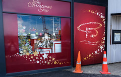 Ballantynes Christmas Display (Jocey K) Tags: christchurch newzealand southisland architecture signs words building lichfieldst roadcones shopwindowdisplay ballantyneschristmasdisplay ballantynesstore window