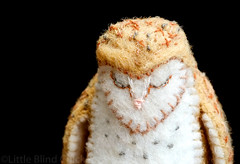 Sleepy small barn owl 1 (Little Blind Chicken) Tags: bird wool felted barn handicraft toy stuffed soft stitch alba handmade embroidery ooak felt plush softie owl plushie stitching tyto