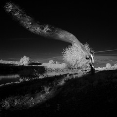 light strips (old&timer) Tags: blackandwhite composite model background digitalart surreal fantasy infrared oldtimer deviantart imagery mjranumstock song4u laszlolocsei