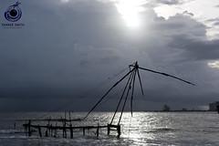 ChineseFishingNets (TannerSmith) Tags: d810 50mm asia india indian southeast tannermsmith tannermsmithcom tannersmith tannerphotocom tannerphoto tanner chinese fishing nets kochi kerala 18 f18 sunset cloudy clouds