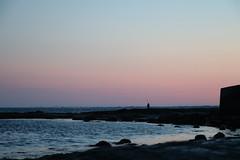 Lone Fisherman (fresh_paint) Tags: sunset fishing
