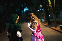 Link and Zelda (gp.gustavo) Tags: link zelda cosplays cosplay ibirapuera nature game t5 canon 50mm portrait photoshoot ensaio sp brazil