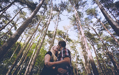 send my love to you (Rosa Anastasia Scheipers) Tags: lila wood forest couple love kiss