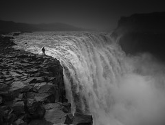 On Edge (vulture labs) Tags: iceland blackandwhite photography zeiss 35mm dettifoss waterfall bw monochromatic monochrome monotone mono fog mist fineartphotography