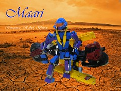 Maria 1 (quartzroolz) Tags: bionicle agori quartz roolz bike biker bikerbabe system mixel island rpg mocpages