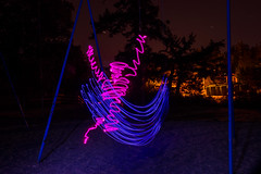 Swing (~138~) Tags: gorge gorgewaterway victoria abstract art ball bc canada colour colours dark electric fiber fiberoptic fibreoptic fun light lightart lightpaint lightpainting lightsculpture lights lines night nightlights nightscape orb outdoors paintingwithlight psychedelic silhouette singleexposure sketch sphere strange streaks swing trippy