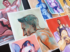 Added seven fantastic new ink and paint drawings of Kim to my store. (killingclipart) Tags: figuredrawing ink paint drawing nudemale malebody maleform erotic sexual sensual art artwork