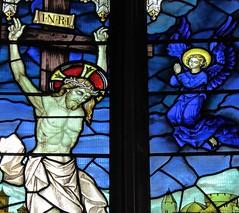 Newbury, St Nicholas Church - Stained Glass (Glass Angel) Tags: stnicolaschurch johnhardmanstudios simonjenkins englandsthousandbestchurches parishchurch hardmancoofbirmingham stainedglasswindows stnicholaschurch newbury westberkshire berkshire crucifixion