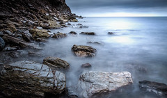 Timeless (oxfordwight) Tags: kernow cornwall charlestown moody le rocks shore blue
