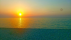 Sunset in Dukhan, Qatar (m7diab) Tags: outdoor city doha mobile photography qatar gulf arab الدوحة قطر filters effects traviling corniche sunset day life home seaside ocean landscape shore water coast sea beach sand sky natural relax relaxing brown m7diab sun m7 lonely sony xperia m5 summer view dukhan دخان شاطيء blue morning صيف middle east