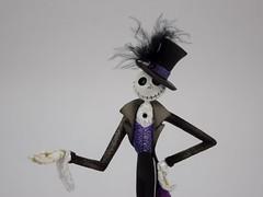 Couture de Force Jack Skellington Figurine by Enesco - Disneyland Purchase - Midrange Front View (drj1828) Tags: us disneyland dlr 2016 figurine nightmarebeforechristmas sally couturedeforce purchase enesco