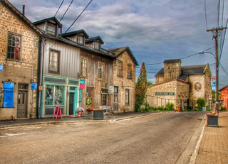ELORA Ontario ~ Canada ~  Elora Mill Inn ~ Heritage ~ Stores Along Mill Street