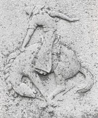 Calgary Stampede (designwallah) Tags: detail alberta canada guildparkandgardens toronto ontario olympusm1240mmf28 guildwoodparkway closeup theguildpark olympusomdem5 calgary calgarystampede stone sculpture