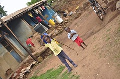the gravity of life (Pejasar) Tags: gravity life family ghana westafrica africa childrenboys brothers laundry angle bicycle dirt