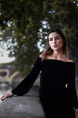 La Petite Robe Noire (Bakar.Photography) Tags: black blackandwhite blackdress dress toulouse city street autumn girl model