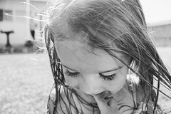 A child laughing// London (makaylarichardson) Tags: littlegirl little girl cute laughing kids kid children child bw blackandwhite