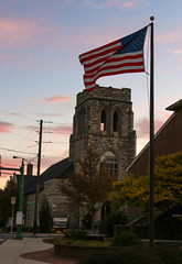 Amish Country V (Lawrence OP) Tags: pennsylvania amish dutch america usa flag tower church state