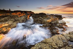 White Water (Paul Hollins) Tags: aus australia newsouthwales swanseaheads nikond750 nikon1635mmf4 seascape rocks sunrise