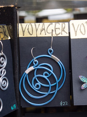 Earrings, Marlene Townsend, Voyager (marketkim) Tags: jewelry product eugene oregon saturdaymarket festival artfair eugenesaturdaymarket artfestival
