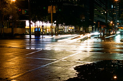 City Nights 2016 06 (marq4porsche) Tags: san francisco california long exposure light street urban city car downtown cityscape canon eos 3 ef 50mm 12 l kodak portra 400 film analog