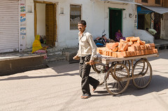 42/52:The 2016 Edition - Transportation - DSC_0038 (John Hickey - fotosbyjohnh) Tags: 2016 holidays india october2016 transportation week422016 52weeksthe2016edition weekstartingfridayoctober142016 street man person cart outdoor nikon nikond5100 delhi tourism traveldepartment visitors