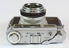 Aires Viscount M2.8 on Display (06) (Hans Kerensky) Tags: aires viscount m28 display japanese 35mm rangefinder camera lens q coral 128 45cm