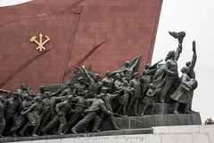 Communist revolutionary statues at the Monsudae Grand Monument Pyongyang, North Korea (DPRK) (tommcshanephotography) Tags: adventure asia communism dprk democraticpeoplesrepublicofkorea expedition exploring kimilsung kimjungil kimjungun northkorea pyongyang revolution secretcompass travel trekking