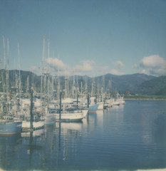 the ships we sail (Celina Innocent) Tags: impossibleproject ships water reflection oregoncoast garibaldi marina sx70 polaroidweek instantfilm