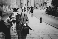 Elegant Goth (Kacsigor) Tags: street bw mono white black people nikon fade city