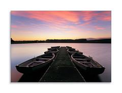 Sunrise Peace (Paul Weller Photography) Tags: sunrise water pink sky rowing boats still lockwoodreservoir longexposure le
