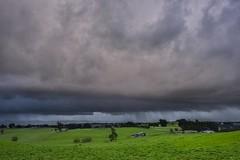 Approaching Storm (phunnyfotos) Tags: phunnyfotos australia victoria vic warragul gippsland westgippsland rural farm farmland cloud clouds weather nikon nikond750 d750 bawbaw paddock rain raining storm stormy green grass skies winter landscape