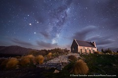 Church of the Good Shepard (David Swindler (ActionPhotoTours.com)) Tags: church churchofthegoodshepard milkyway newzealand southisland clouds night nightscape