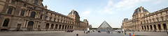 Louvre Panorama (Mikey Down Under) Tags: thelouvre louvre paris france panoramic stitch courtyard plaza place art museum
