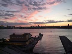 201409077 New York City Chelsea, Hudson and New Jersey (taigatrommelchen) Tags: city nyc newyorkcity sunset sky usa ny newyork skyline clouds river newjersey jerseycity manhattan nj icon hudson meatpackingdistrict hoboken 20140936