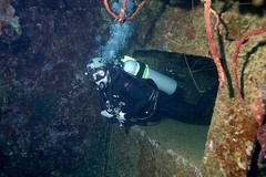 Wreck Diver 1411195570w (gparet) Tags: ocean sea fish coral photography underwater dive scuba diving buddy resort caribbean reef bonaire buddydive buddydiveresort
