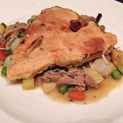 "Leftover Thanksgiving turkey became Cast Iron Skillet Pot Pie for dinner tonight. It was so delicious that I am sad to see that we've used all of the leftover turkey!  What's for dinner at your house tonight? • <a style=""font-size:0.8em;"" href=""http://www.flickr.com/photos/54958436@N05/15295936764/"" target=""_blank"">View on Flickr</a>"