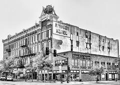 Windsor Hotel (Kansas Poetry (Patrick)) Tags: kansas oldwest windsorhotel cowntown gardencitykansas patrickemerson patricknancy