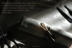 la tavola (Fabio Tacca) Tags: italy lunch italia colore shadows ombre piemonte cibo diningtable tavola pranzo tenue giochidiluce alimentazione laidtable claudiomagris mezzomerico playingwithlightlightexperiments
