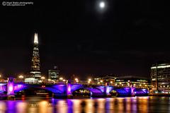 The Shard with Southwark bridge in the foreground (Nigel Blake, 15 MILLION views! Many thanks!) Tags: city uk bridge london night with dusk shard southwark foreground the