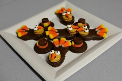 Chocolate Dipped Nutter Butter Turkeys and Pilgrim Hats (rabidscottsman) Tags: scotthendersonphotography food sweets candycorn thanksgiving holiday mn minnesota sunday weekend chocolate chocolatedipped nutterbutter sweet dessert treat foodphotography eat foodblog newtrierminnesota nikon plate squareformat squareplate bird pilgrim 35mm d7100 nikond7100 nikkor nikkor35mmf18 cookies sugar homemade usa unitedstatesofamerica smalltown candy turkey eyes face thanksgiving2014 foodporn unique cute culinarydelights happythanksgiving f40 356mm 160th iso720 hungry nationalchocolateday socialmedia enjoy