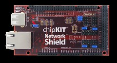 chipKIT Network Shield: Ethernet for Mega R3 Platforms (Digilent, Inc.) Tags: switch hardware student board platform can device storage host header usb data shield network professor electronic maker busses ethernet circuit input output r3 otg expansion microcontroller connector oscillator hobbyist eeprom rtcc digilent phy pic32 12pin chipkit max32